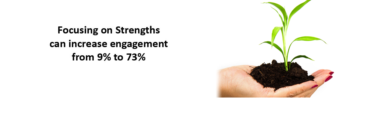 Focusing on Strengths can increase engagement from 9% to 73%